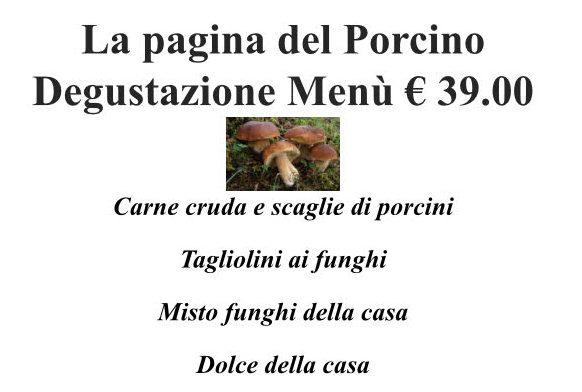 menu degustazione porcini